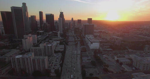 Above Downtown Traffic Footage