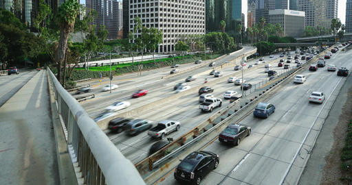 Harbor Freeway Timelapse Footage