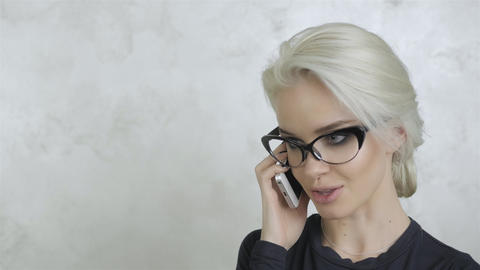 Portrait of Beautiful Young Woman With Phone Live Action