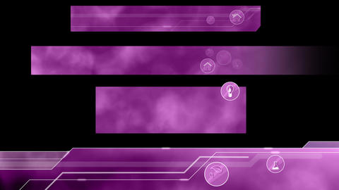 Ecological Lower Thirds. Purple Animation