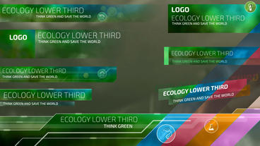 Ecological Lower Thirds After Effects Template