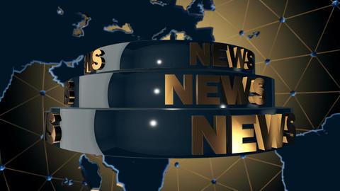 News Broadcast stock footage