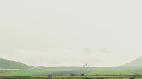 Airbus 320 landing at Phuket Footage