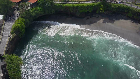 Aerial view on the coast Footage