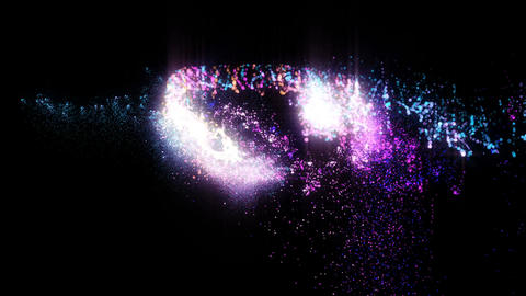 Particles Glitter 4K colorfull CG動画素材