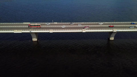 Side tracking shot of overseas highway Footage
