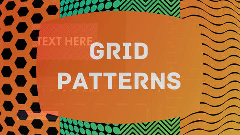 Grid Patterns Motion Graphics Template