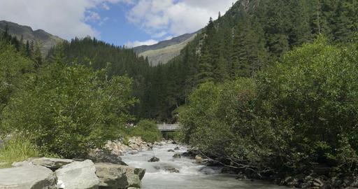Creek Mountain Italian Alps Footage
