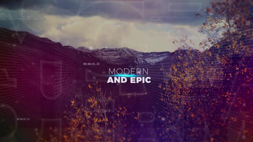 Alphabet Parallax Opener After Effects Template