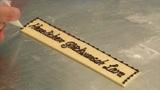 german bakery write with chocolate 10741 Footage