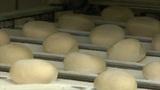 german bakery roll bun on conveyor belt close 10743 Footage
