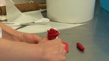 german confectioner build marzipan rose 10745 Footage