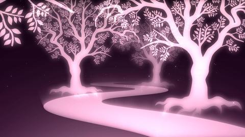 Way loop of the tree Stock Video Footage