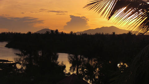 vietnam sunrise Stock Video Footage