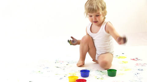 young painter Stock Video Footage