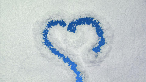 snow heart Stock Video Footage