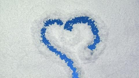 snow heart Stock Video Footage