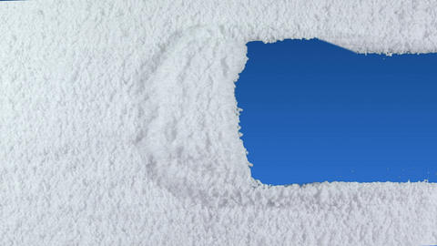snow stripe Stock Video Footage