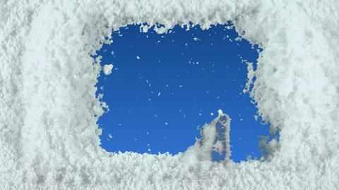 snow window Stock Video Footage