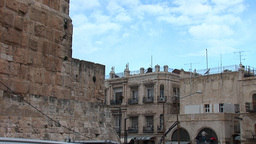 Jerusalem, Old City -Tower of David Stock Video Footage