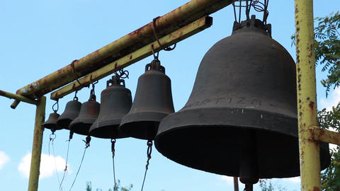 Bells on church belfry Stock Video Footage