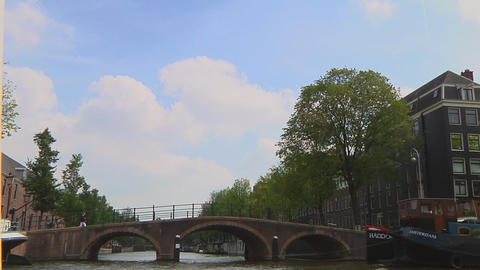 Canal houses Stock Video Footage