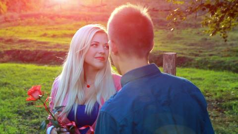 Valentine couple Stock Video Footage