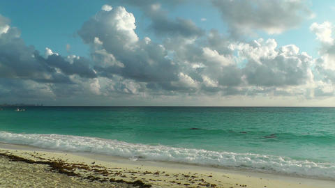 Cancun Beach Mexico 2 Stock Video Footage