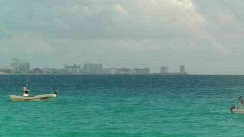 Cancun Beach Mexico 4 Stock Video Footage