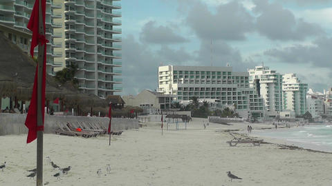 Cancun Beach Mexico 6 Stock Video Footage