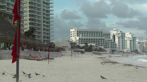 Cancun Beach Mexico 6 Footage