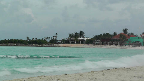 Cancun Beach Mexico 8 Stock Video Footage