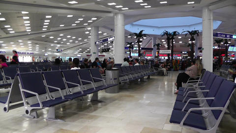 Cancun International Airport Terminal Mexico 1 Stock Video Footage