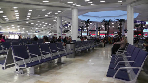 Cancun International Airport Terminal Mexico 1 Footage