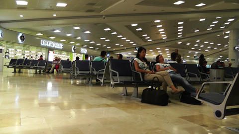 Cancun International Airport Terminal Mexico 3 Stock Video Footage