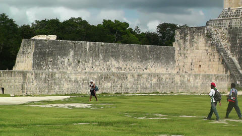 Chichen Itza Mexico Yucatan 09 handheld Stock Video Footage