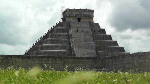 Chichen Itza Mexico Yucatan 13 Kukulcan Pyramid handheld Footage