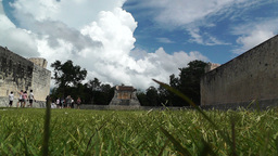 Chichen Itza Mexico Yucatan 12 Kukulcan Pyramid handheld Stock Video Footage