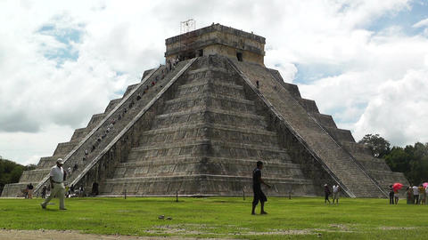 Chichen Itza Mexico Yucatan Kukulcan Pyramid 21 Stock Video Footage
