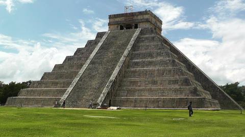 Chichen Itza Mexico Yucatan Kukulcan Pyramid 23 Footage