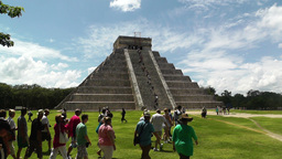 Chichen Itza Mexico Yucatan Kukulcan Pyramid 25 handheld Footage