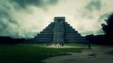 Chichen Itza Mexico Yucatan Kukulcan Pyramid handheld 31 stylized Footage