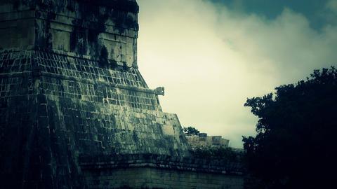 Chichen Itza Mexico Yucatan 35 stylized Stock Video Footage