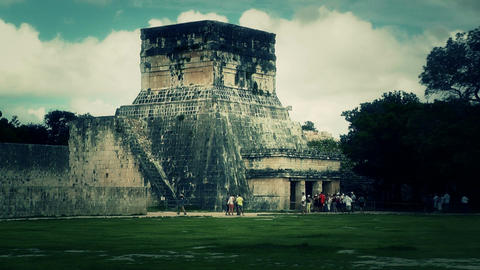 Chichen Itza Mexico Yucatan 37 handheld stylized Stock Video Footage
