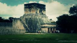 Chichen Itza Mexico Yucatan 37 handheld stylized Stock Video Footage