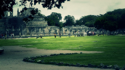 Chichen Itza Mexico Yucatan 39 stylized Stock Video Footage