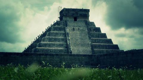Chichen Itza Mexico Yucatan Kukulcan Pyramid 41 stylized Footage