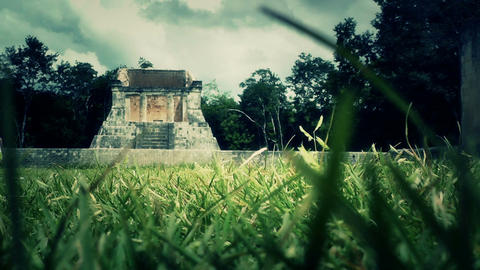 Chichen Itza Mexico Yucatan 43 stylized Stock Video Footage