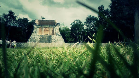 Chichen Itza Mexico Yucatan 43 stylized Stock Video Footage