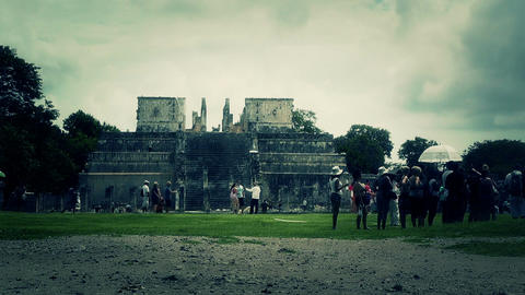 Chichen Itza Mexico Yucatan 45 stylized Footage
